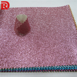 Pink Glitter Vinyl Canada - Glitter wallpaper for room colorful wall covering and green abstract wallpaper