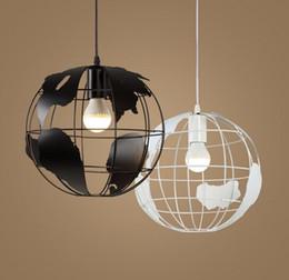 Discount scandinavian lighting - Globe Earth Iron Pendant Lamp Creative Arts Cafe Bar restaurant bedroom hallway lamp Scandinavian modern minimalist sing