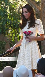 princess kate dresses Australia - Luxury Sleeve Dress Princess Short Dresses Women WF009 A-Line Middleton Kate Hgurr