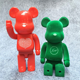 made toys china 2019 - Suzannetoyland Bearbrick made in china Parking Ginza Alexander Girard Bear Brick 400% hand model Building Decoration Dol