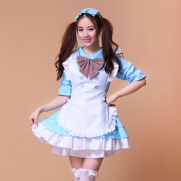 Princess Cartoon Sexy Pas Cher-8 couleurs Lovely Anime jeu de rôle cartoon Akihabara Lolita Princesse Sexy Cosplay Costume Japon House Maid Uniforme Femmes Dress
