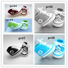Infants crocheted bootIes online shopping - 2015 Fashion Baby crochet sneak Crochet baby booties Soft Fashion infant knitted first walker shoes toddler sandal fit a baby age months