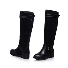 China high boots tube sleeve round head with women chunky heel for winter knee high boots Ladies shoes womens boots large size 35-43. XZ-067 cheap high heel shoes tube suppliers
