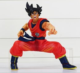 Dragon Figure Wholesale NZ - Anime Dragon Ball Z Figures Son Gokou Goku PVC Action Figure Toys Collectible Model Dolls 19cm With Box 5pcs Free Shipping