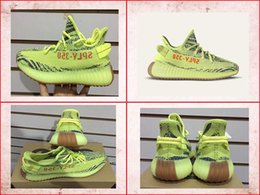 5fdd39e17c8f SPLY 350 Boost 350 V2 Belgua 2.0 men and women Running Shoes soft Semi  Frozen Yellow Raw Steel-Red drop shipping
