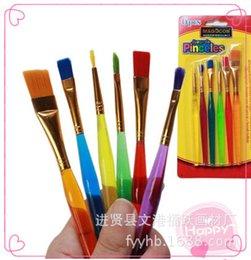 Toptan-SICAK! 6 adet Nail Art Design Set Süsleyen Boyama Çizim Lehçe Fırça Kalem Araçları