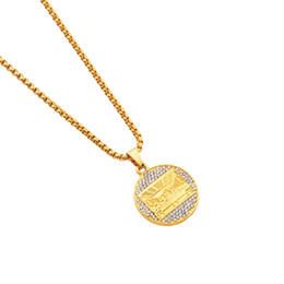 gold micro pendant Canada - Fashion Charms Necklace The Last Supper Pendant 29.5inch Chains Rock Micro Hip Hop Jewelry Gold Color Necklaces for Men Women