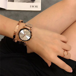 Glasses Trade NZ - New hot Foreign Trade Fashion Luxury Quartz Function steel strip Ladies Floral lrregular glass And Women's Wrist watches