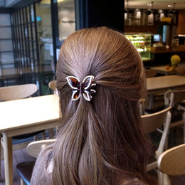 $enCountryForm.capitalKeyWord NZ - Small Butterfly Ponytail Clips Girls Hair Accessories Cute Hair Claw Hair Clamp for Women Black Brown Color 4946