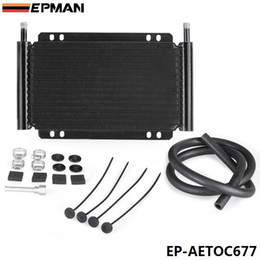 Cooling Fins Canada - EPMAN High Quality Racing Car Series 8000 Type 13 Row Aluminum Plate & Fin Transmission Oil Cooler EP-AETOC677