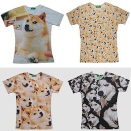 Hot Men V Tshirt Pas Cher-Doge T-shirt Homme Swag style Hauts pour femmes Funny Dog manches courtes 2015 Marque Summer Fashion T-shirts Reddit Tumblr Tshirt kabosu Hot