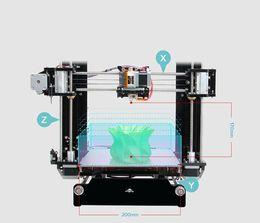 Vente chaude Reprap Stampante 3D Imprimante 3d Prusa i3 Full Acrylique Cadre MK8 Extrudeuse LCD2004 de 2016