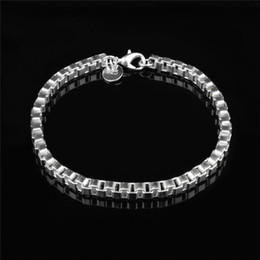 cheap sterling silver chains wholesale NZ - Top quality cheap 4MM 925 sterling silver plated box chain bracelet fashion jewelry free shipping