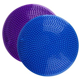 Ball For Massages Canada - 32cm PVC Inflatable Yoga Ball Pad Stability Balance Disc Massage Cushion Mat Ball Fitness Exercise Training Ball For Gym Home
