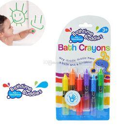 Toptan satış 2018 yeni bebek toddler banyo banyo boya kalemi banyo yapımı çizim yazma eğlenceli oyun eğitici hediye C3338
