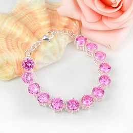 Easter gifts uk online easter gifts uk for sale 2017 new arrival sale 2pcs 1 lot high quality holiday gift newest pink zircon gemstone chain bracelet bangle russia australia uk brazi negle Image collections