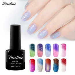 Humor Cambiante Uv Esmalte De Uñas Baratos-Al por mayor-saroline 8ml marca Nail Gel Lucky Colors Termo Barniz Cambio de temperatura Nail Mood Color UV Polish Gel Soak Off