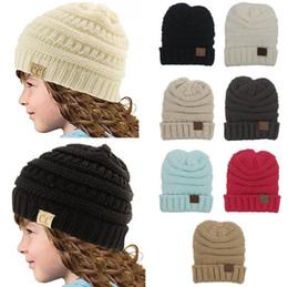 $enCountryForm.capitalKeyWord Canada - Baby Hats CC Trendy Beanie Crochet Fashion Beanies Outdoor Hat Winter Beanie Children Wool Knitted Caps Warm Beanie