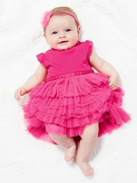 girl tutus one piece dress Canada - 2015 new popular summer girl dress lace One Piece Tutu Dress Jumpsuits Toddler Rompers Clothes Retail D90M