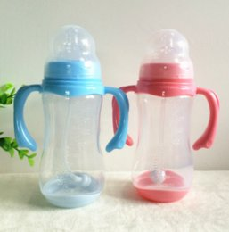 Wholesale Arriving Ml Baby Feeding Bottle PP Bottle with Handle Standard Caliber Nursing Bottle Breast Nipple