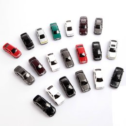 kids toy car mini colorful 20pcs oo scale 175 painted model cars building train layout landscape models toy vehicles order