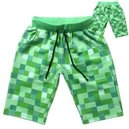 Shorts For Summer Canada - 2015 Fashion Green Plaid Summer kids Casual Short Pants For Children Baby Boys 5-14 Years