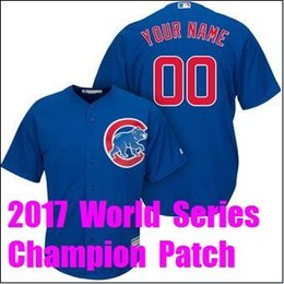 2e20e7c0c online shopping 2017 World Series Champion Chicago Cubs Javier Baez  Baseball Jerseys Custom Sports Throwback mlb