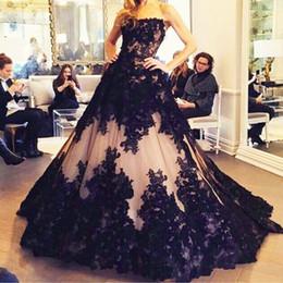Discount dubai fashion dresses - Vestido 2016 New Black Long Arabic Evening Dresses with Lace Appliqued Tulle Floor Length Dubai Formal Celebrity Prom Pa