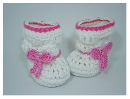 $enCountryForm.capitalKeyWord Canada - white Crochet baby girl shoes Baby Booties soft bottom baby handmade shoes snow tall waist booties newborn toddler shoes