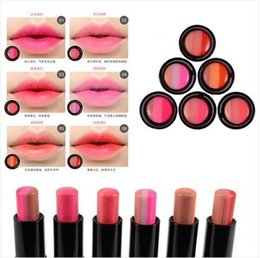 bite lip color 2020 - Cute Three color gradient Bite lip makeup look six kinds of color nude lipstick moist lip balm Free shipping discount bi
