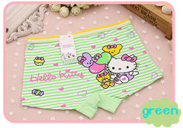 Free - freight girl cartoon cute cat girl child boxer shorts soft cotton panties from boxer sizes manufacturers