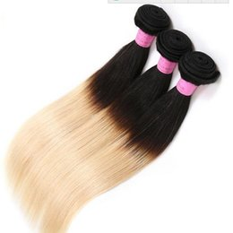 China Ombre Brazilian Hair Bundles Virgin Human Hair Weaves Weft 1B&613 Blonde Two Tone Unprocessed Peruvain Indian Mongolian Hair Extensions suppliers