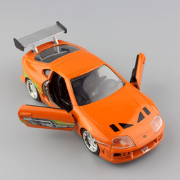$enCountryForm.capitalKeyWord Canada - wholesale new 1:32 Scale Brian's 1995 TOYOTA SUPRA FAST AND FURIOUS metal diecast race model mini collection street race cars toys for kids
