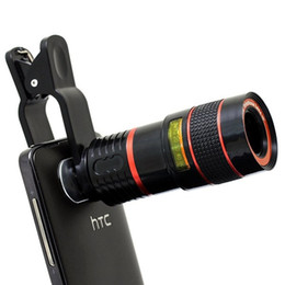 Chinese  Universal 8X Optical Zoom Telescope Camera Lens Clip Mobile Phone Telescope For iPhone6 for Samsung for HTC for Huawei Xiaomi manufacturers