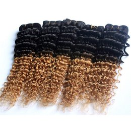 $enCountryForm.capitalKeyWord Canada - Ombre Brazilian Deep Wave Human Hair Weave T1b 27 Grade 8A Two Tone Peruvian Indian Malaysian Virgin Hair Bundles 3pcs 4pcs