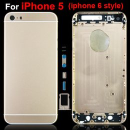 Iphone Iphone5 Canada - For iPhone5 iphone 5 Battery Back Cover Housing Replacement Part iPhone 6 Design Style A+ Quality