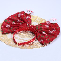 Infant Hair Styles UK - Baby Bow Headbands Christmas Party Decor European Style Cute Infant Hair Sticks Newborn Fashion Mix Color