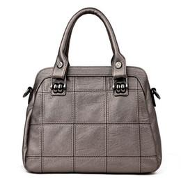 Patchwork Plaid Handbags Canada - NEW TOTE Genuine Leather bags handbags women famous casual large capacity big shoulder crossbody bags female bag