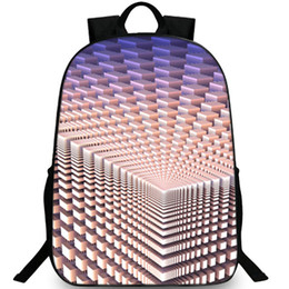Cube blaCk letters online shopping - Three dimensional backpack D cube daypack Cubic geometric schoolbag Leisure rucksack Sport school bag Outdoor day pack