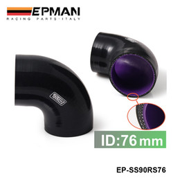 Intake sIlIcone hose online shopping - EPMAN Universal quot Ply Degree Elbow Silicone Hose Coupler MM Turbo Intake EP SS90RS76