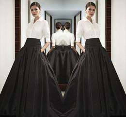 Taille haute jupes longues en satin noir taille large au sol longueur buste jupes robe faite sur commande de haute qualité maxi jupe au printemps été robe
