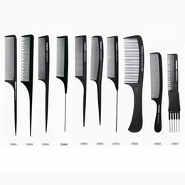 $enCountryForm.capitalKeyWord Canada - Tony Guy Barber Hair Cutting Comb Carbon Fabric Material Black Color Heat Resistant Polybag Packing 200piece per Lot DHL Free Shipment