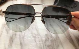 $enCountryForm.capitalKeyWord Canada - Mens Designer Pilot Sunglasses Silver Grey Gradient sonnenbrille Half Frame Sonnenbrille occhiali da sole Luxury Designer Sunglasses Sun gla