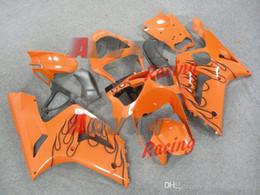 Yellow Kawasaki Canada - Cool Orange+pattern Injection Fairings Bodywork Set kit Kawasaki Ninja ZX6R 03-04 29