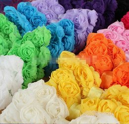 Discount chiffon flowers hair clips - 18%OFF NEW Flowers Accessories 24Pcs Lot Baby Infant Girl Toddler Colorful Chiffon Hair Bows Clips Decoration