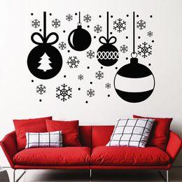 $enCountryForm.capitalKeyWord NZ - Christmas Shop Home Art Decoration Wall Sticker Merry Christmas Removable Wall Mural Christmas Balls Snowflakes MC007