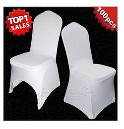 $enCountryForm.capitalKeyWord Canada - Universal White Polyester Spandex Wedding Chair Covers for Weddings Banquet Folding Hotel Decoration Decor Hot Sale Wholesale
