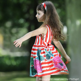 $enCountryForm.capitalKeyWord Canada - Pettigirl 2016 Summer Baby Girls Flower Dress With Red Stripe And Print Floral Children Dresses For Kids Clothing GD80828-125F