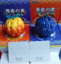 Flaming Toys NZ - Anime One Piece Devil Fruit Ace Flame-Flame Fruit & Luffy Gum-Gum Fruit PVC Figures Collectible Toys