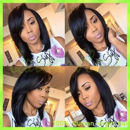 $enCountryForm.capitalKeyWord Canada - Brazilian Glueless Human Hair Bob Wig with Natural Hairline Yaki Full Lace Human Hair wigs Short bob lace Wigs for Black Women